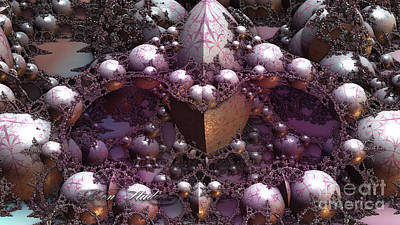 Fractal Mine Field Art Print