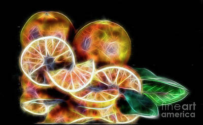 Photograph - Fractal Oranges by Shirley Mangini