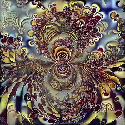 Recently Sold - Surrealism Digital Art Rights Managed Images - Fractal ornament Royalty-Free Image by Bruce Rolff
