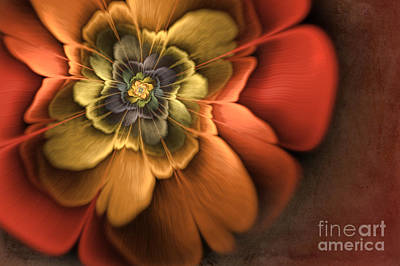 Fractal Pansy Art Print by John Edwards