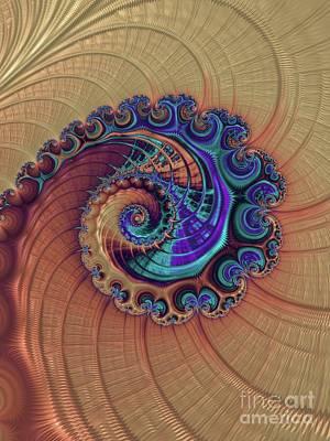 Surrealism Digital Art - Fractal, Pattern, Kaleidoscope, Art by Esoterica Art Agency