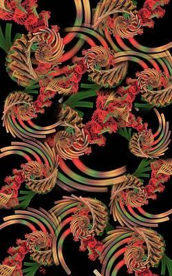 Digital Art - Fractal Patterning by Ron Bissett
