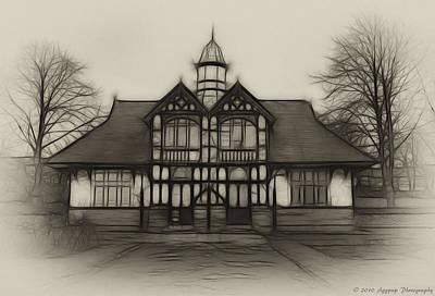 Fractal Pavilion Art Print by David J Knight