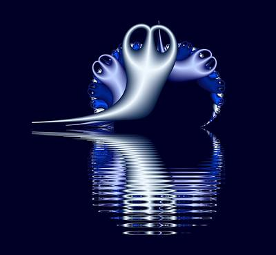 Digital Art - Fractal Peeble Ghosts by Ruth Moratz