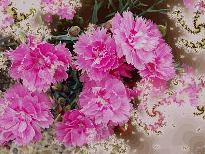 Digital Art - Fractal Pinks by Nancy Pauling