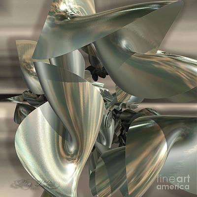 Digital Art - Fractal Ribbons by Melissa Messick