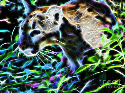 Photograph - Fractal Stalking Panther by D Hackett
