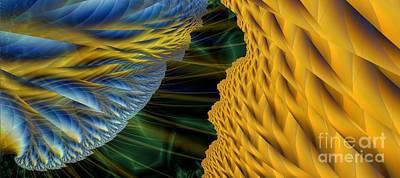 Lightning Digital Art - Fractal Storm by Ron Bissett
