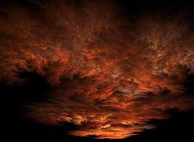Apo Digital Art - Fractal Sunset by Lyle Hatch