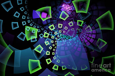 Photograph - Fractal Tiles Swirling by Sari ONeal