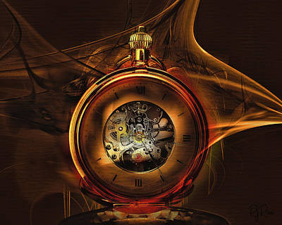 Digital Art - Fractal Time by Richard Ricci