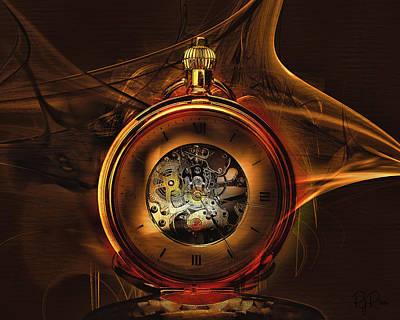 Digital Art - Fractal Time by Richard Ricci