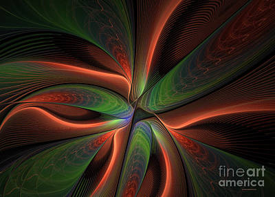 Gree Digital Art - Fractal Warp Mode by Deborah Benoit