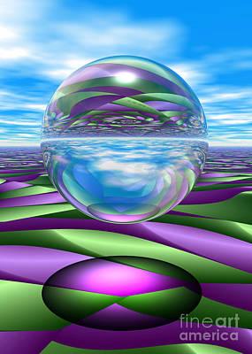 Digital Art - Fractal Waves And Glass by Sandra Bauser Digital Art