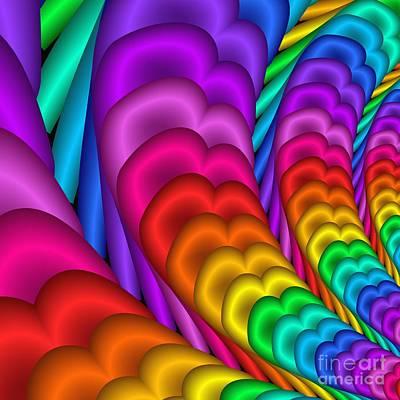 Fractalized Colors -10- Art Print