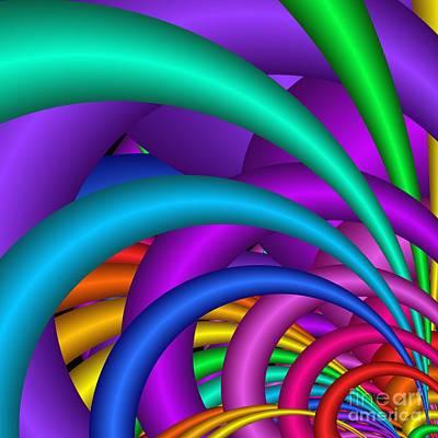Digital Art - Fractalized Colors -6- by Issabild -