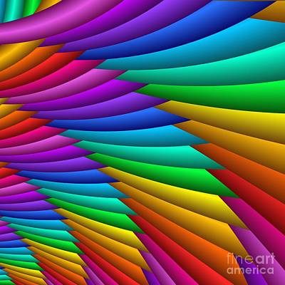 Fractalized Colors -8- Art Print