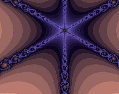 Digital Art - Fractals Yum Beige by Stephen Daddona