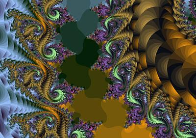 Digital Art - Fractals83002 by Stephen Daddona