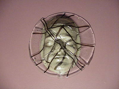 Fused Glass Mixed Media - Fractured Face by David Morgan