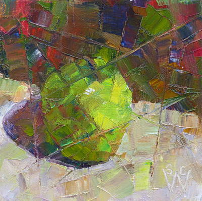 Painting - Fractured Granny Smith by Susan Woodward