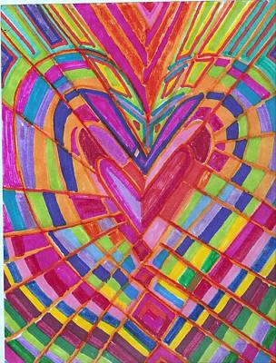 Fractured Heart Art Print by Brenda Adams