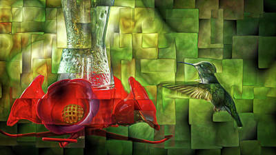 Photograph - Fractured Hummingbird by Cameron Wood