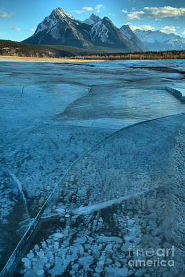 Photograph - Fractured Ice And Methane Bubbles by Adam Jewell