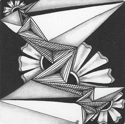 Drawing - Fractured by Jan Steinle