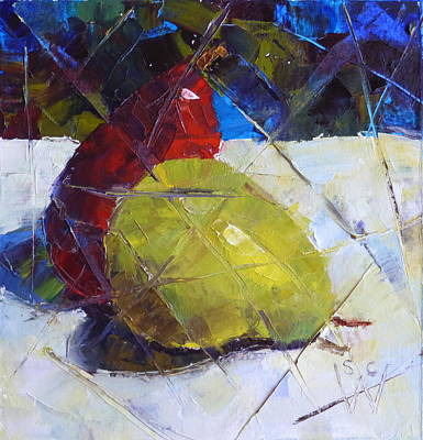 Painting - Fractured Pears by Susan Woodward