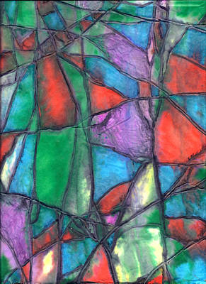 Mixed Media - Fractured Series 3 by Wayne Potrafka