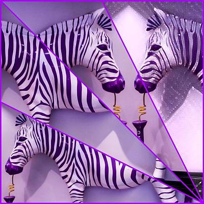 Digital Art - Fractured Zebras  by Karen Buford