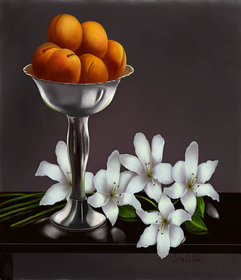 Peach Lilly Painting - Fragance by Sena Wilson