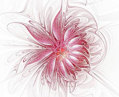 White Fractals Digital Art - Fragile by Amanda Moore