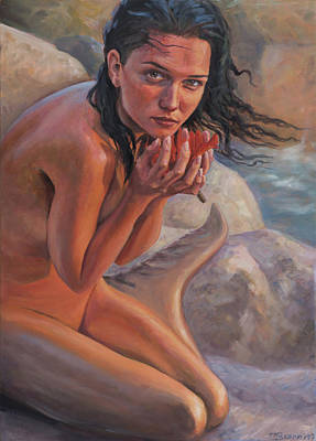 Fragile And Strong - Love Is Beauty Art Print by Marco Busoni