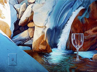 Wine Glass Painting - Fragile Moments by Snake Jagger