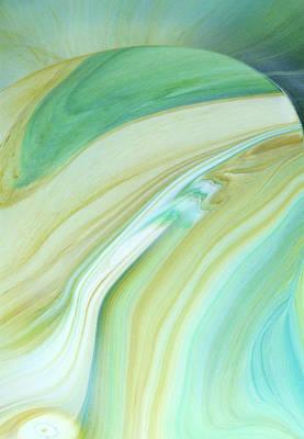 Fluid Mixed Media - Fragility Abstract by Georgiana Romanovna