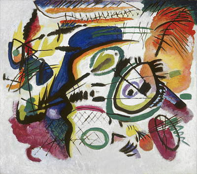Kandinsky Wall Art - Painting - Fragment I For Composition Vii Center by Wassily Kandinsky