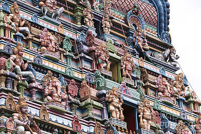 Ancient Photograph - Fragment Of A Hindu Temple In Victoria, Seychelles by Dani Prints and Images