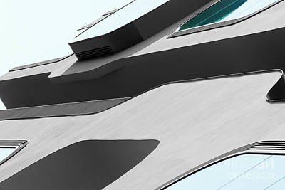 Modern Architecture Photograph - Fragment Of A Modern Building, Hamburg, Gemrany by Dani Prints and Images