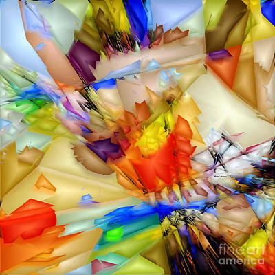 Digital Art - Fragment Of Crying Abstraction by Rafael Salazar