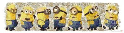 Fragmented And Still In Awe Congratulations Minions Art Print