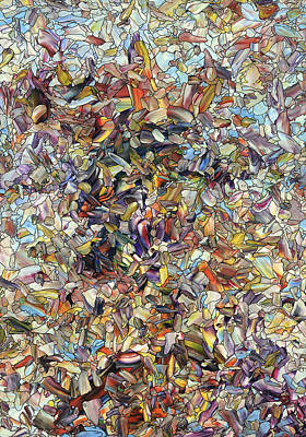 Stallion Painting - Fragmented Horse by James W Johnson