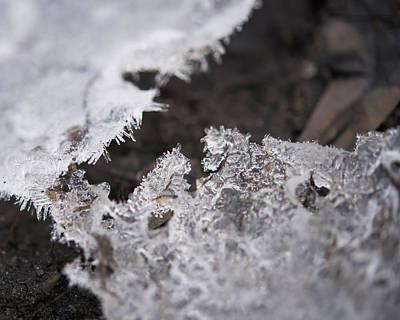 Fragmented Ice Art Print