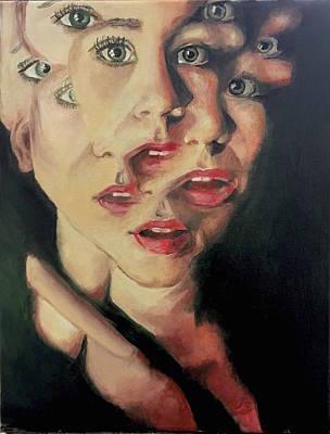 Fragmented Self Portrait Original by Mariah Hill