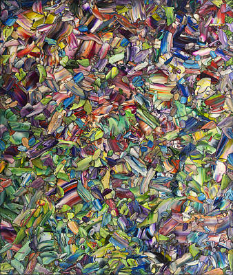 Non-objective Painting - Fragmented Spring by James W Johnson