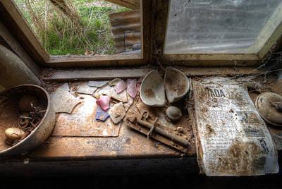 Broken Pieces Photograph - Fragments by Wayne Sherriff
