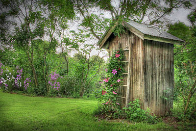 Rural Photograph - Fragrant Outhouse by Lori Deiter