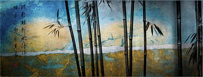 Mixed Media - Fragrant Shadows Above The River  by Peter V Quenter