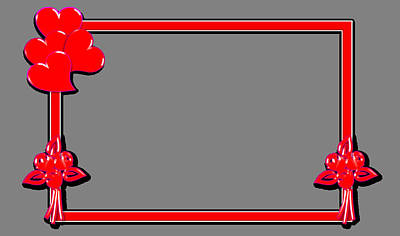 Frame Red Heart Original by Anil Bajpai